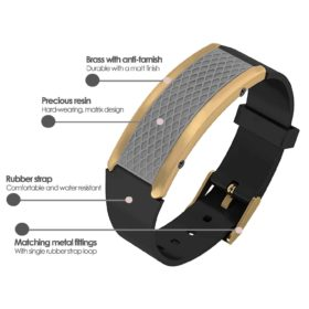 Monaco contactless payment wearable bracelet flint grey and black rubber product details specification