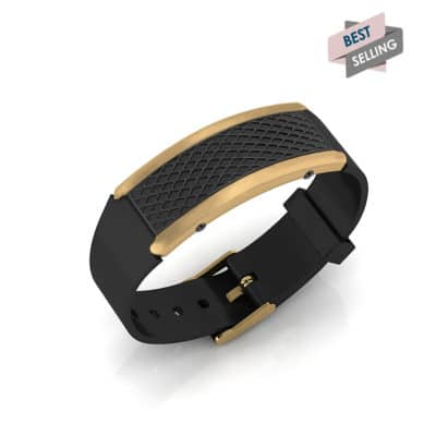 Monaco contactless payment wearable bracelet black and black rubber main view bestseller