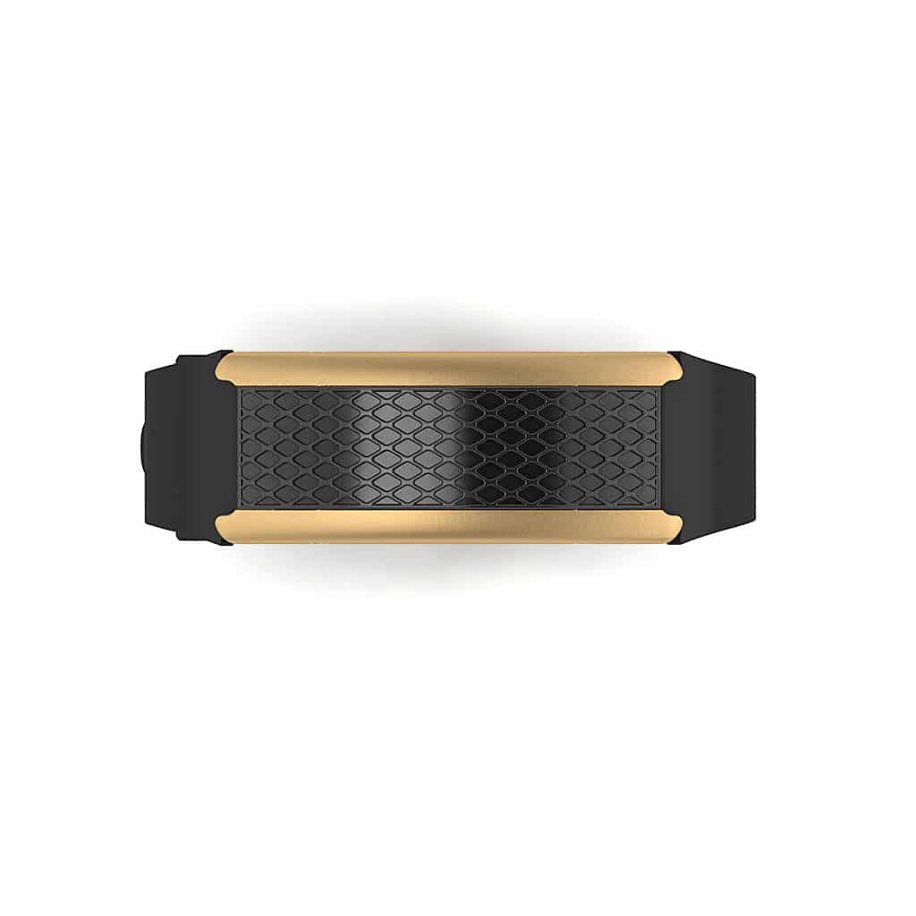 Monaco contactless payment wearable bracelet black and black rubber face and overview