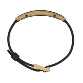 Monaco contactless payment wearable bracelet black and black rubber side view