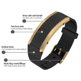 Monaco contactless payment wearable bracelet black and black rubber product details specification