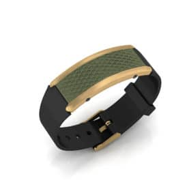 Monaco contactless payment wearable bracelet khaki green and black rubber main view