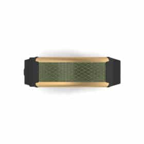 Monaco contactless payment wearable bracelet khaki green and black rubber face and overview