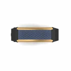 Monaco contactless payment wearable bracelet ocean blue and black rubber face and overview