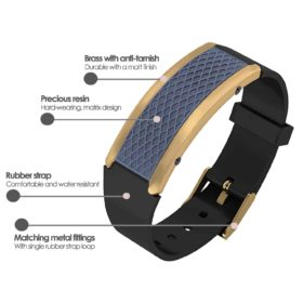 Monaco contactless payment wearable bracelet ocean blue and black rubber product details specification