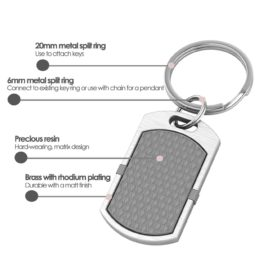 New York contactless payment wearable key fob pendant flint grey product details specification