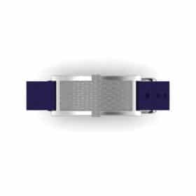 Oxford contactless payment wearable bracelet flint grey and blue nylon face and overview