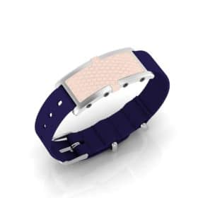 Oxford contactless payment wearable bracelet shell pink and blue nylon main view