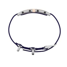 Oxford contactless payment wearable bracelet shell pink and blue nylon side view