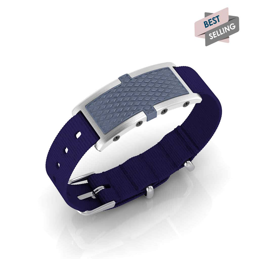 Oxford contactless payment wearable bracelet ocean blue and blue nylon main view bestseller