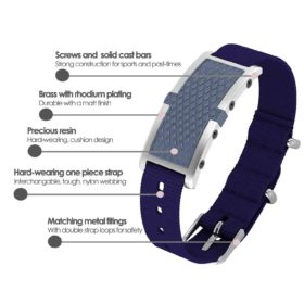 Oxford contactless payment wearable bracelet ocean blue and blue nylon product details specification