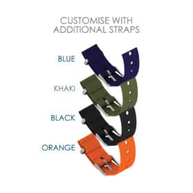 Nylon straps to customise Oxford black blue khaki orange