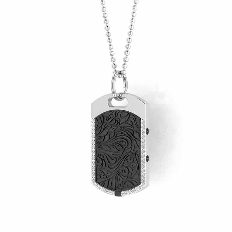 Vienna contactless payment wearable pendant Swarovski crystals black main view
