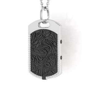 Vienna contactless payment wearable pendant Swarovski crystals black close up view